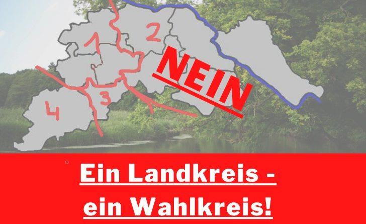 Resolution zu der Aufteilung der Landtagswahlkreise